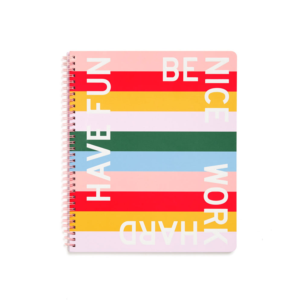 Rough Draft Large Notebook - Have Fun Be Nice