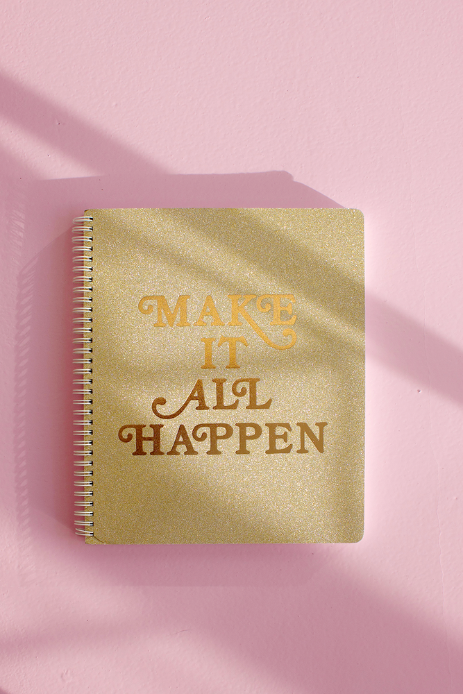 Rough Draft Large Notebook - Make It All Happen