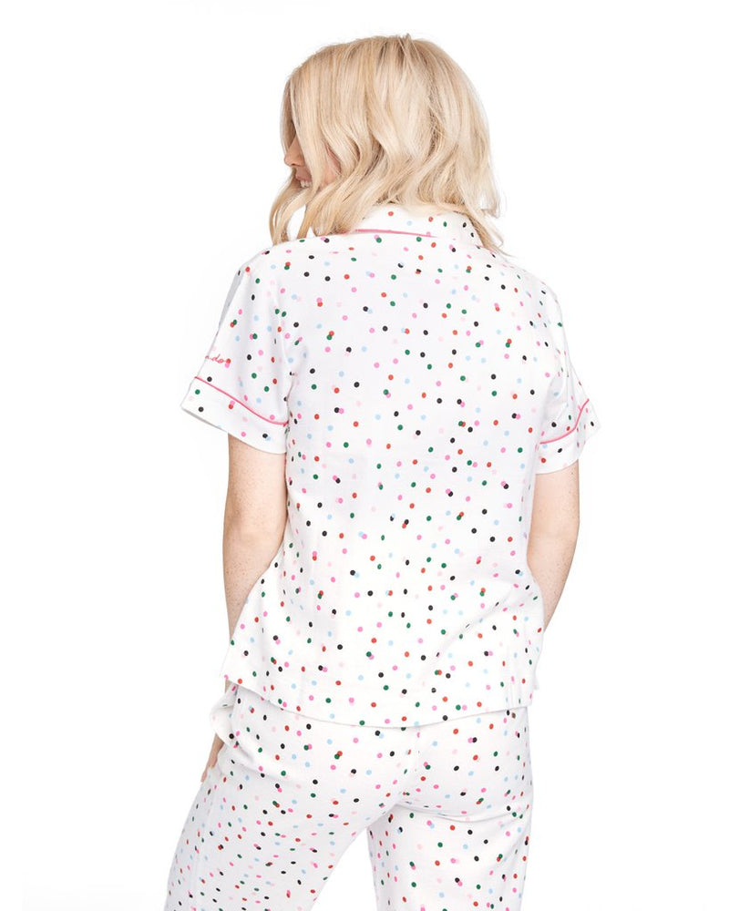 Leisure Club - Party Dots Short Sleeve Sleep Top