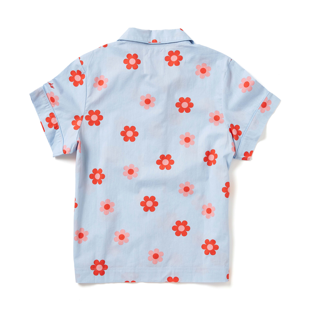 Leisure Club - Retro Daisy Short Sleeve Sleep Top