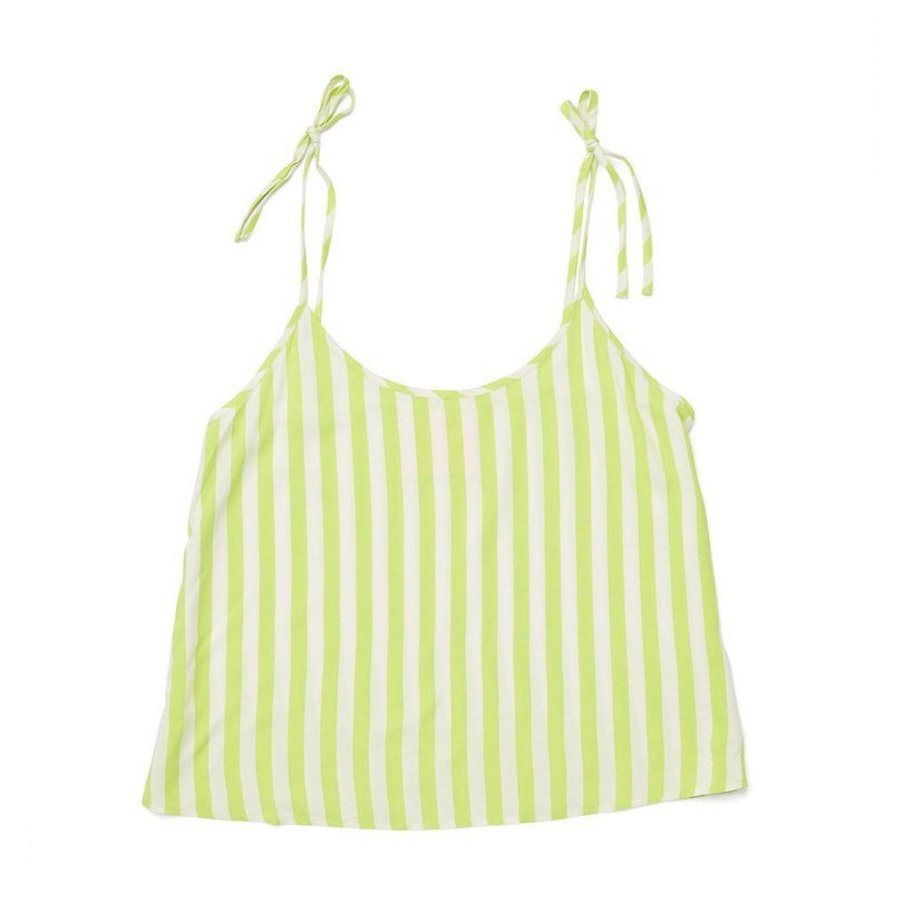 Breezy Tank - Lime Green Stripes