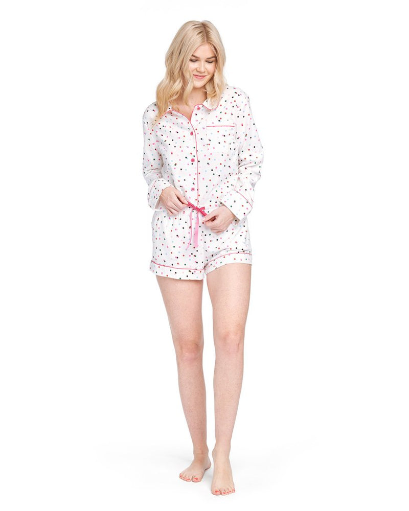Leisure Club - Party Dots Long Sleeve Sleep Top