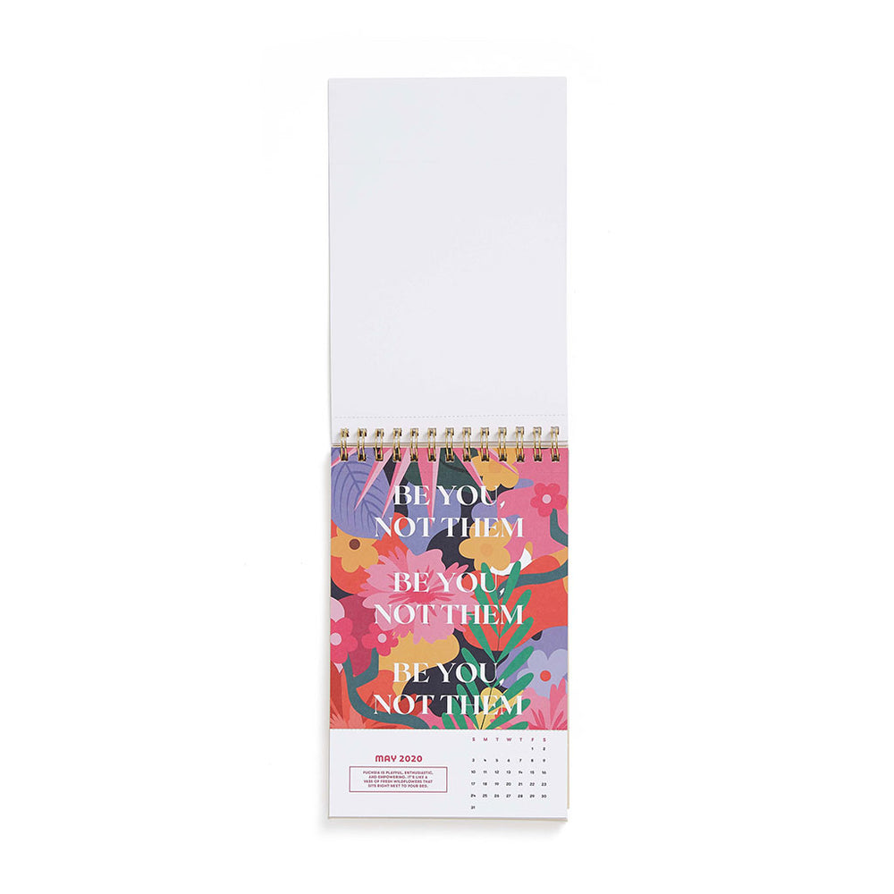 2020 Best Year Ever Desk Calendar - Rainbow