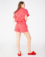 Leisure Shorts - Hot Pink/Red Stripe