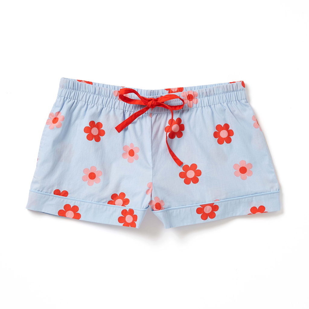 Leisure Club - Retro Daisy Sleep Short