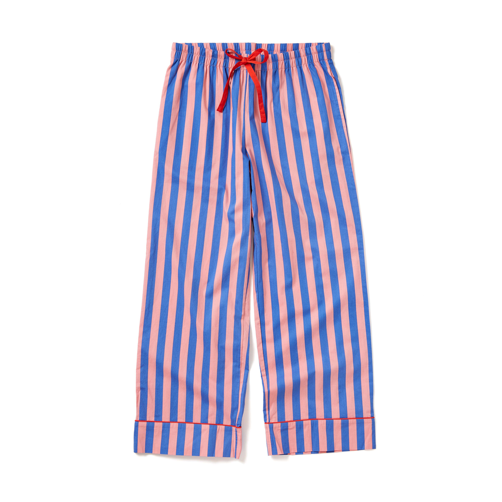 Leisure Club - Indigo & Sleepy Pink Sleep Pant