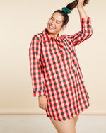 Leisure Club - Buffalo Plaid Sleep Dress