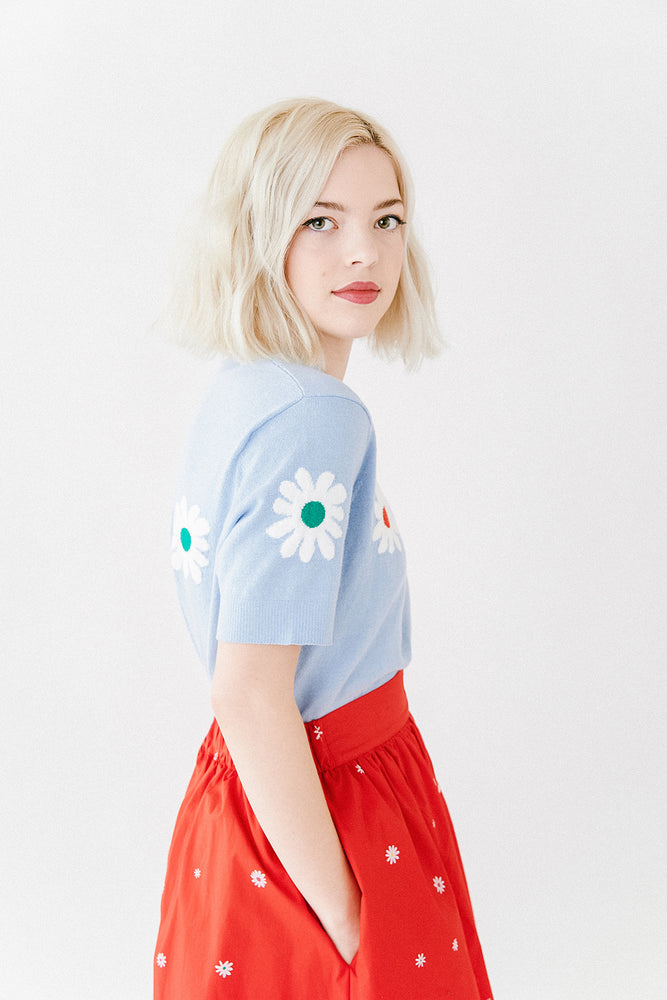 Short Sleeve Sweatshirt - Daisy Chain