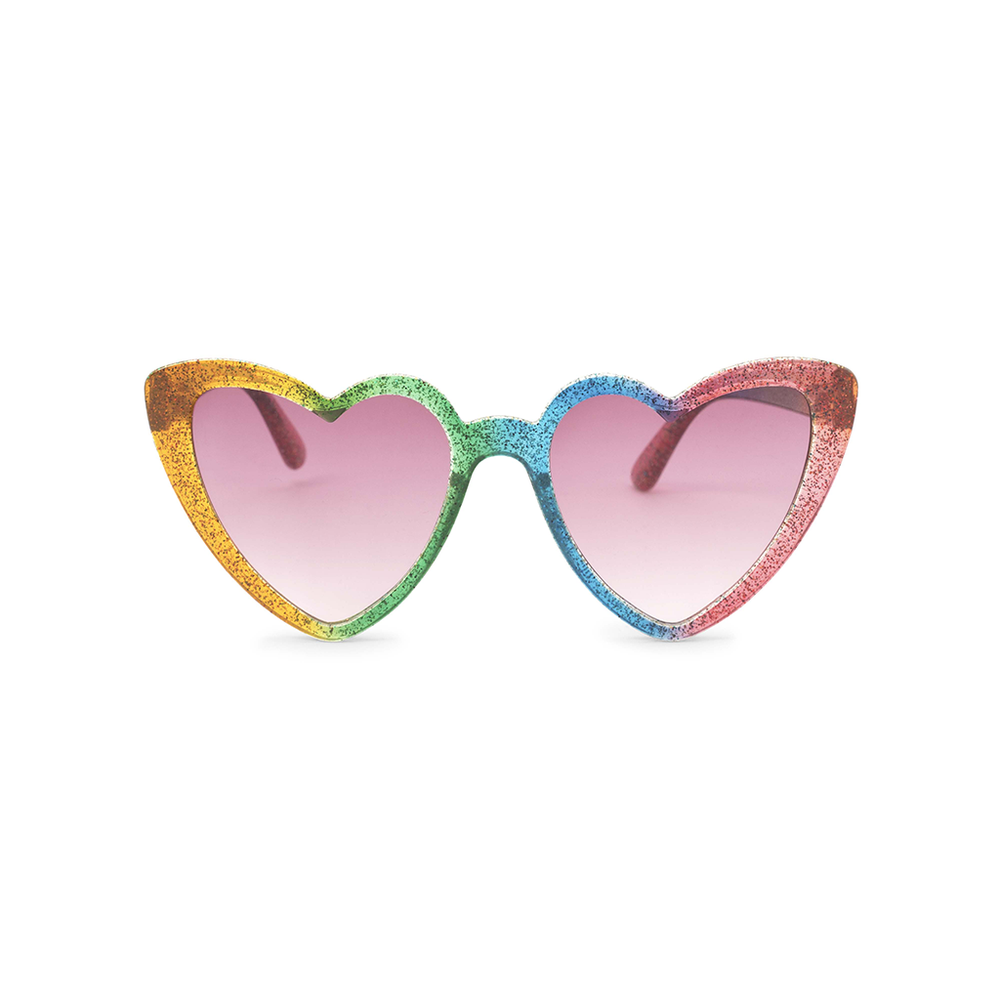 Heart Sunglasses - Rainbow