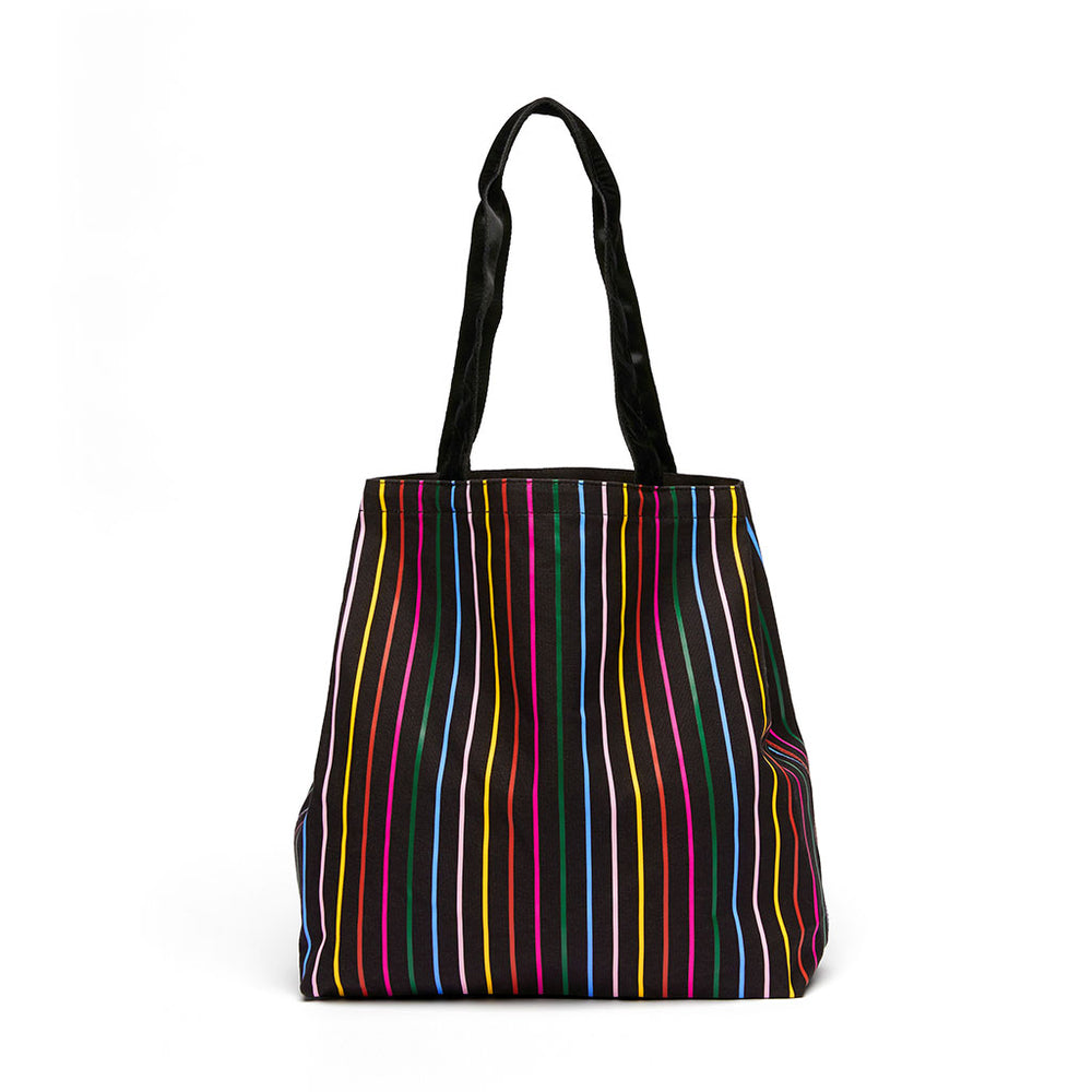 Deluxe Tote Bag - Disco Stripe
