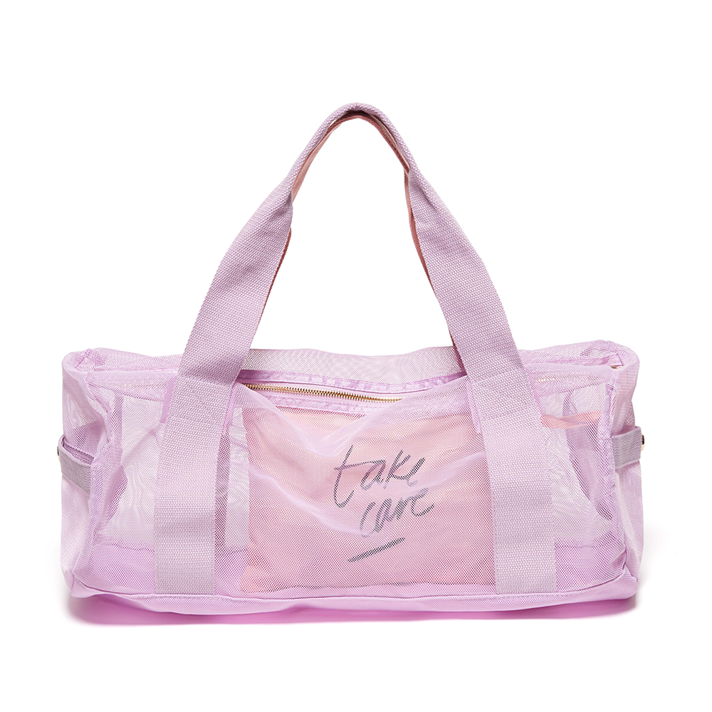 Work It Out Mesh Gym Bag - Take Care