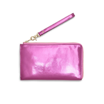 The Getaway Travel Clutch - Metallic Pink