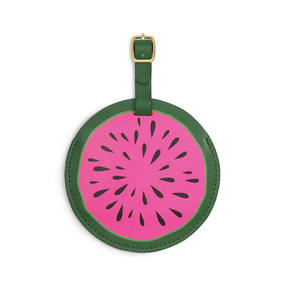 The Getaway Circle Luggage Tag - Watermelon