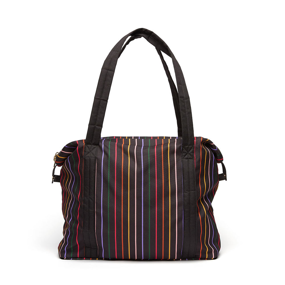The Getaway Weekender Bag - Disco Stripe