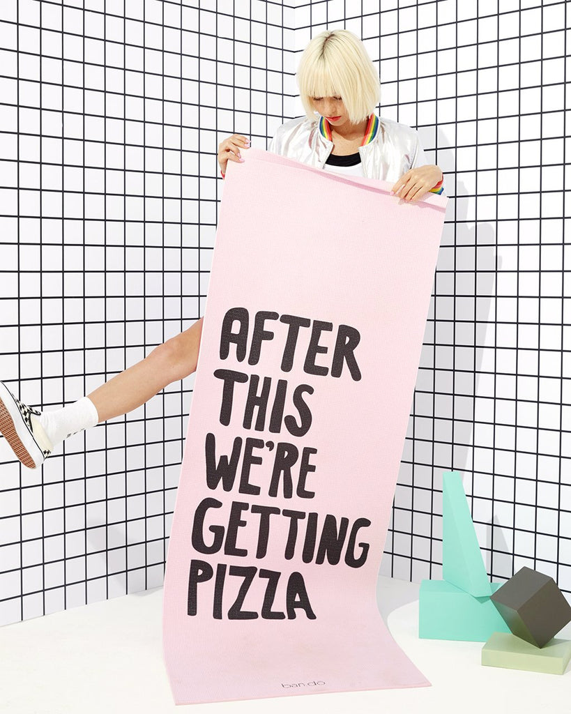 Work It Out Exercise Mat - After This We're Getting Pizza