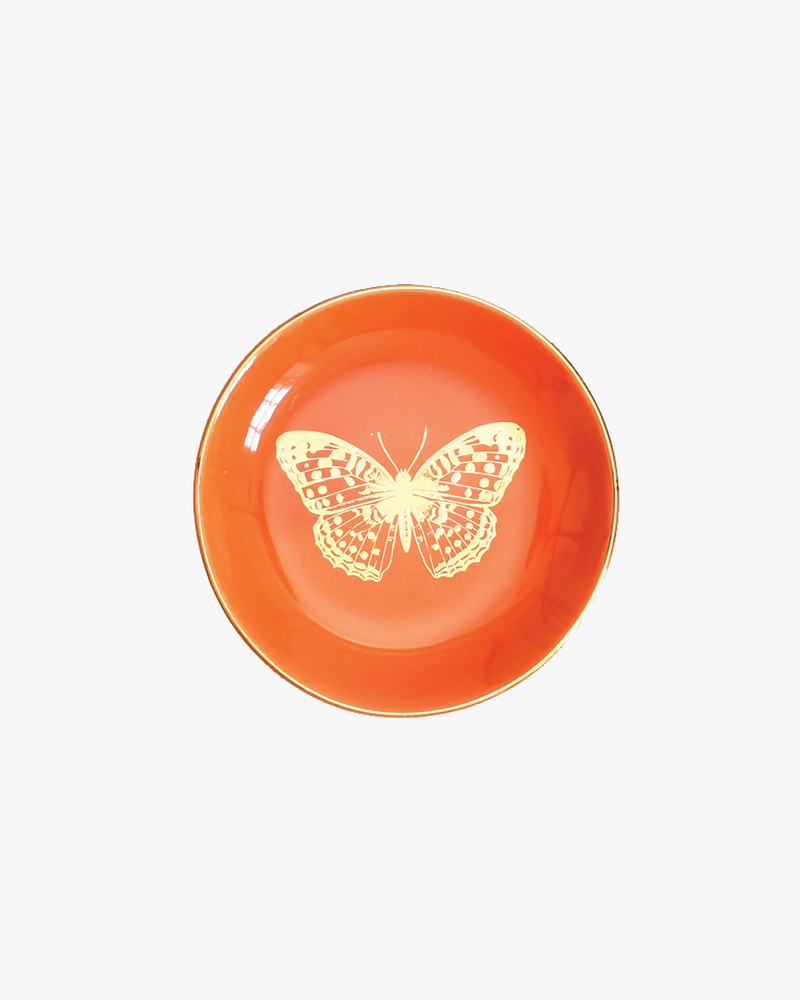 Ceramic Trinket Dish - Orange Butterfly