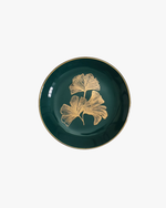 Ceramic Trinket Dish - Teal Ginko Leaf