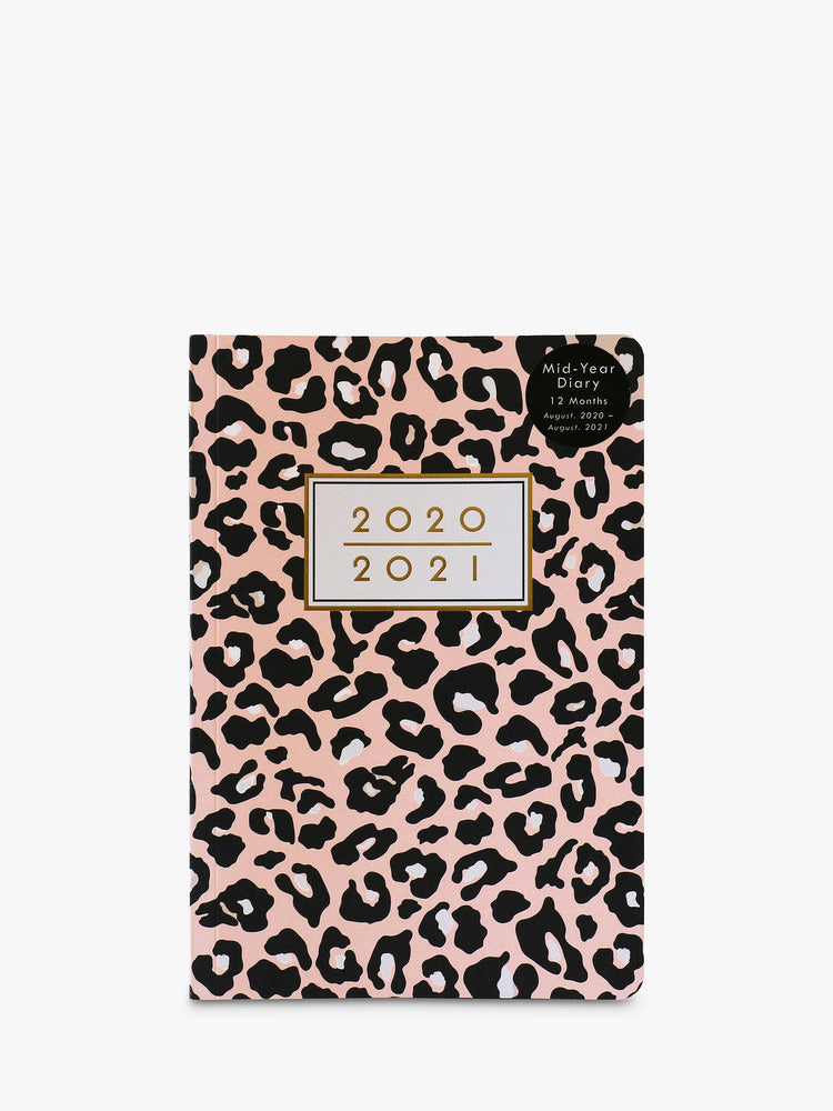 Mid-Year Diary 2020/2021 - Pink Leopard