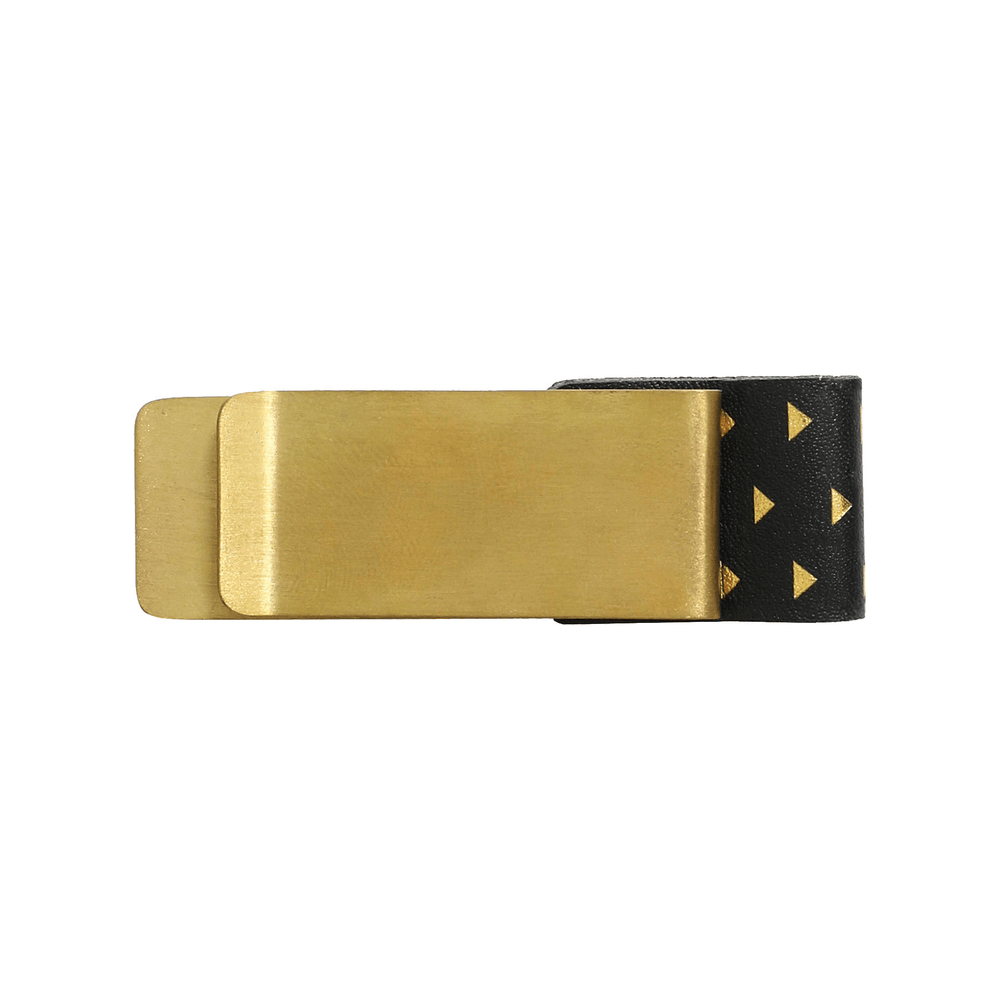 Pen Clip - Brass & Leather