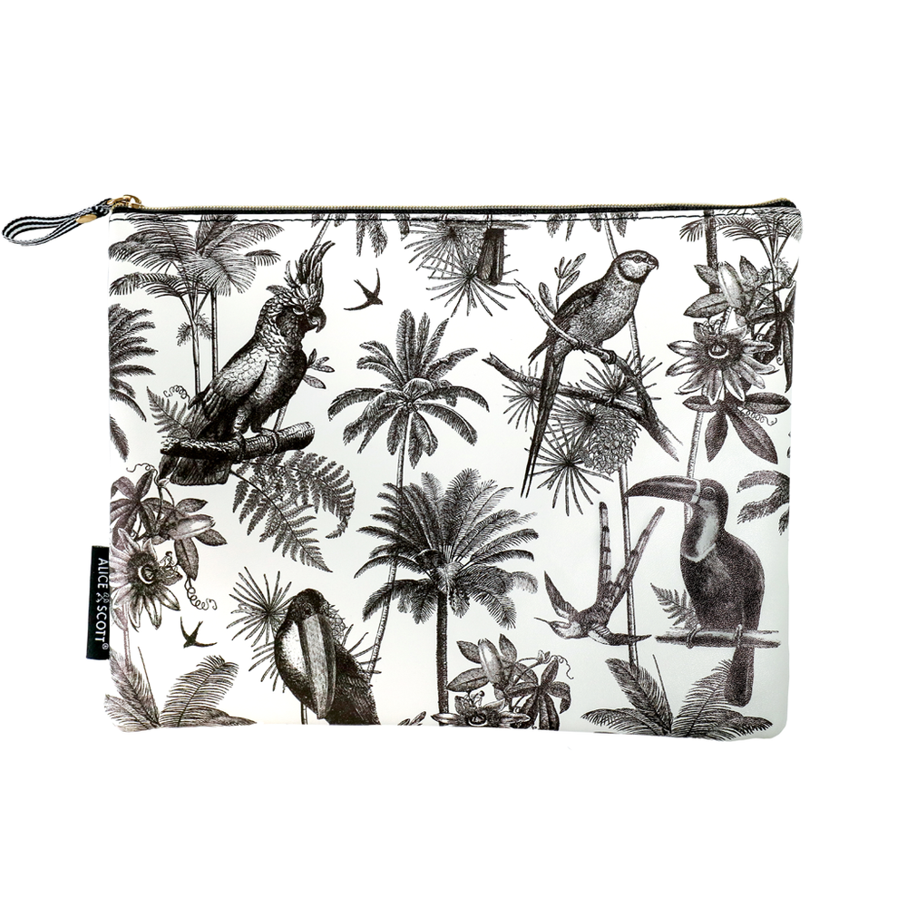 Multi Use Pouch - Tropical Monochrome