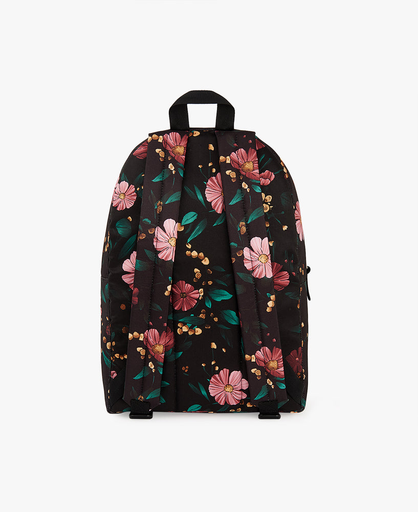 Backpack - Black Flowers