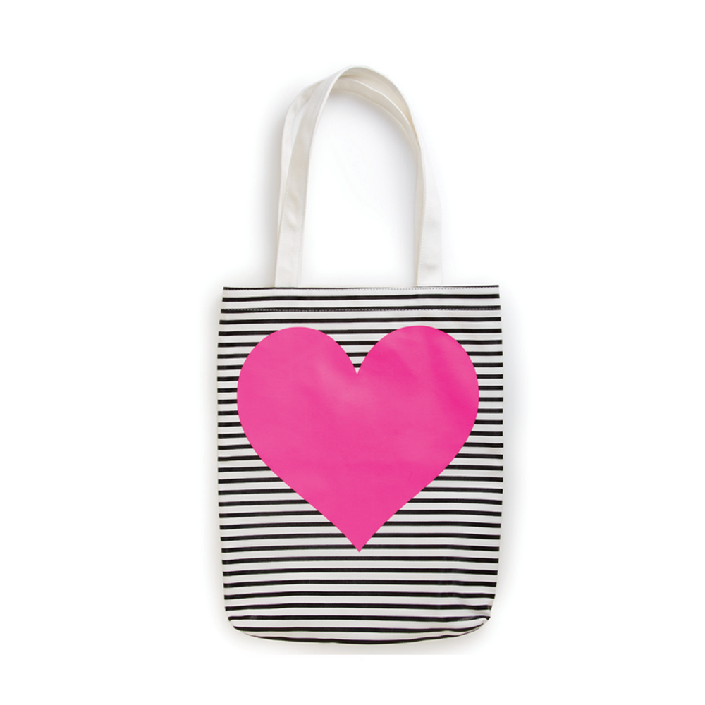 Canvas Tote - Heart + Stripes