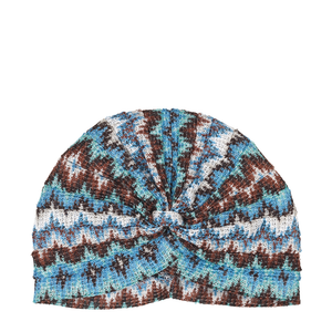 Caron Zig Zag Turban - Brilliant Blue