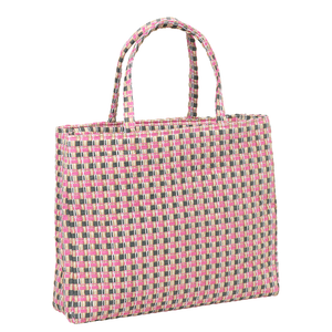 Checksit Straw Tote - Morning Glory