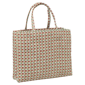 Checksit Straw Tote - Swamp