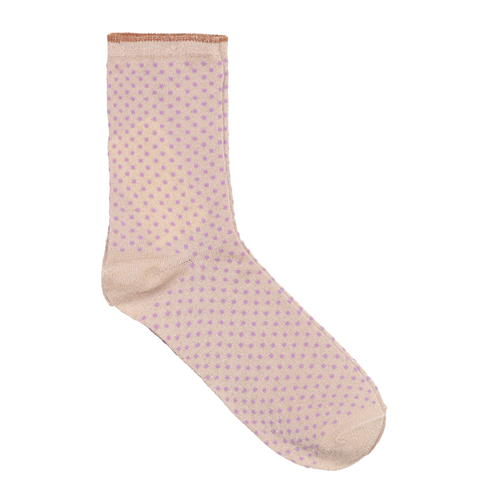 Dina Small Dots Glitter Socks - Lavender