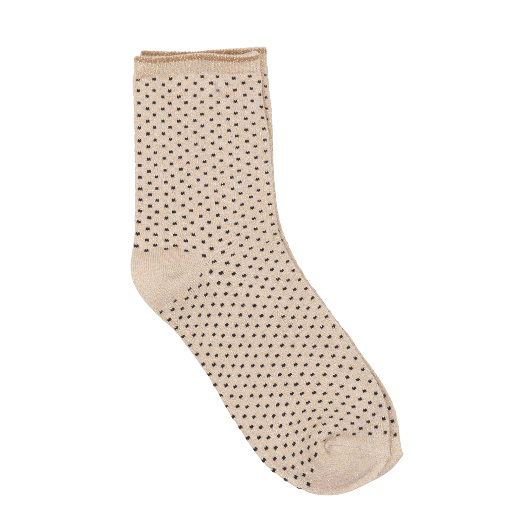 Dina Small Dots Glitter Socks - Sand