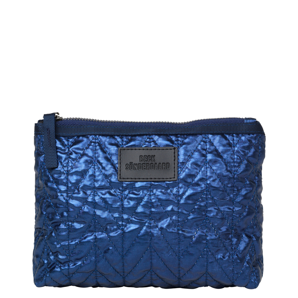 Lola Metallic Make Up Bag - Classic Navy
