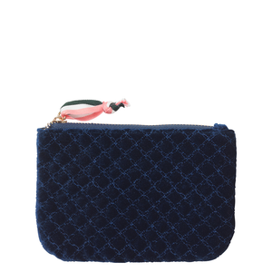 Lura Velvet Pouch - Blue Nights