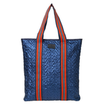 Rellana Metallic Shopper - Classic Navy