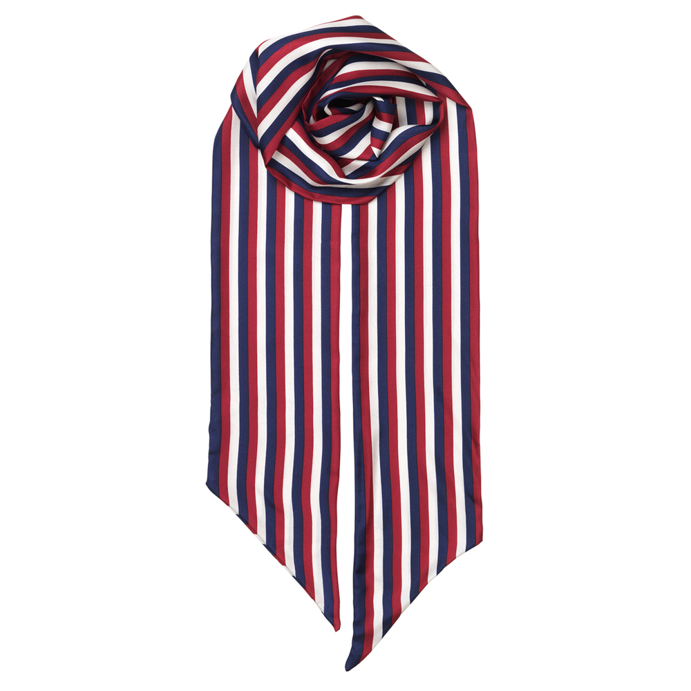 Silk Scarf - Slimmy Stripe Medieval Blue