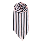 Silk Scarf - Slimmy Stripe Strawberry Cream