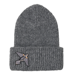 Jadie Bird Hat - Grey Melange