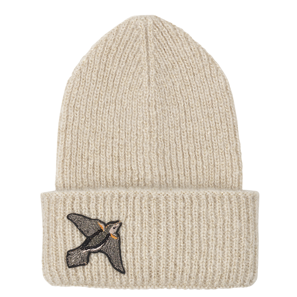 Jadie Bird Hat - Nutmeg White