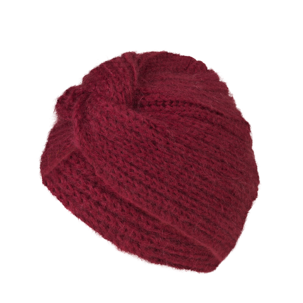 Lulu Turban Hat - Burgundy