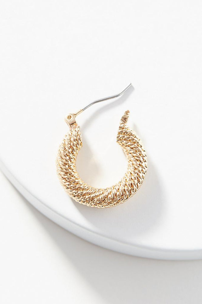 Daniella Small Hoop Earrings - Gold