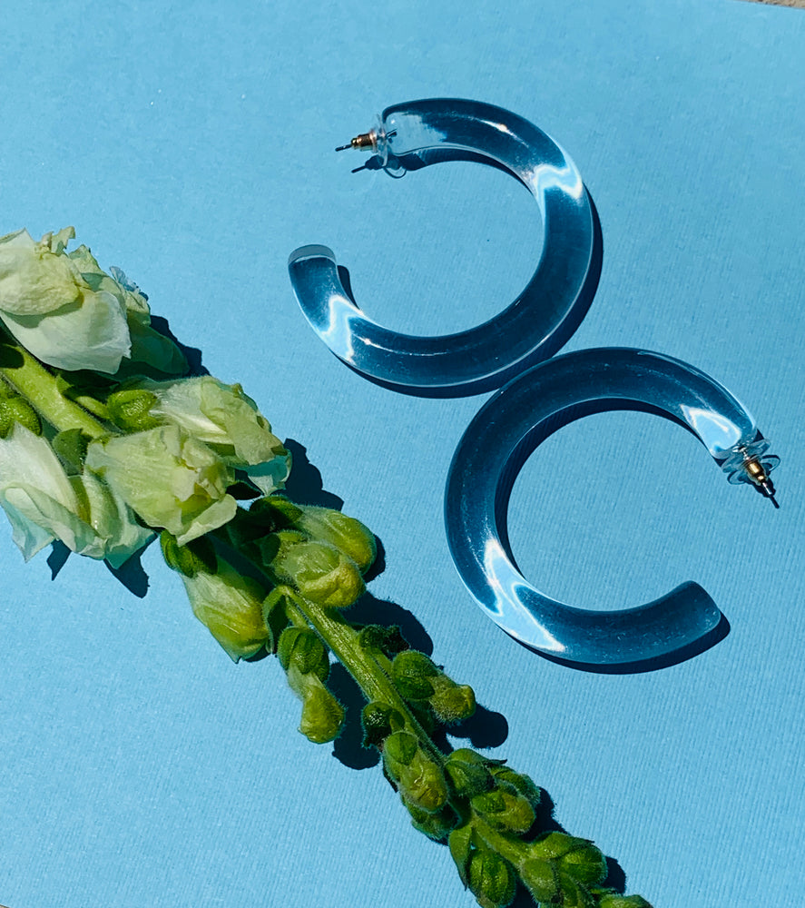Flora Hoops - Lucite