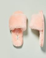 Frankie Shearling Slippers - Rose