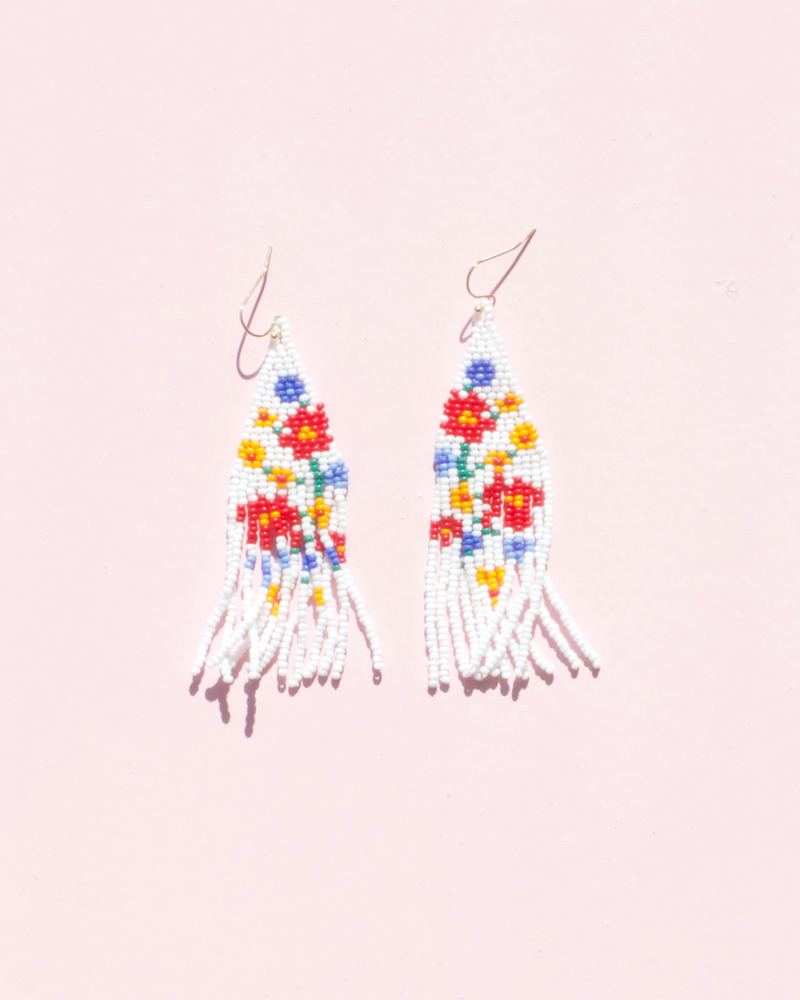 Freesia Beaded Earrings - Florita