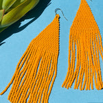 Lily Beaded Earrings - Clementine