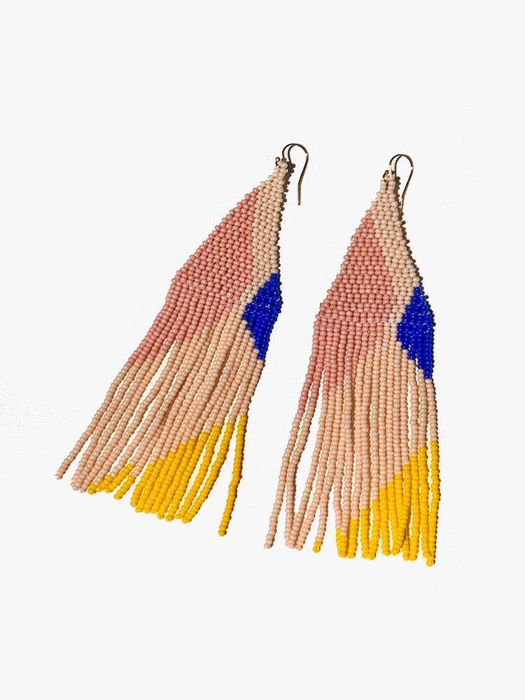 Lily Beaded Earrings - Tropics