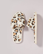 Maile Faux Fur Slippers - Light Coco Spot