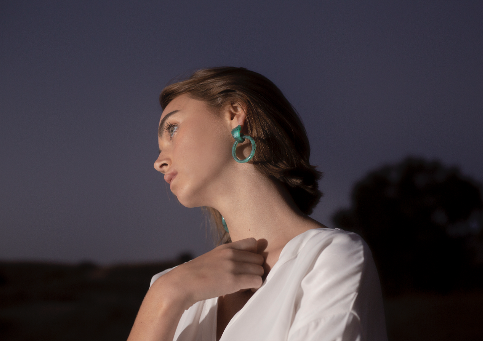 Milly Earrings - Jade