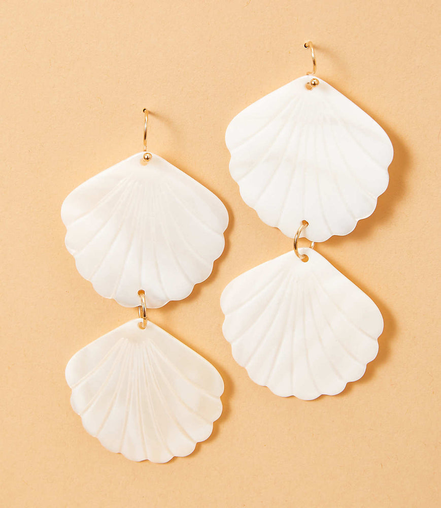 Paisley Earrings - Shell