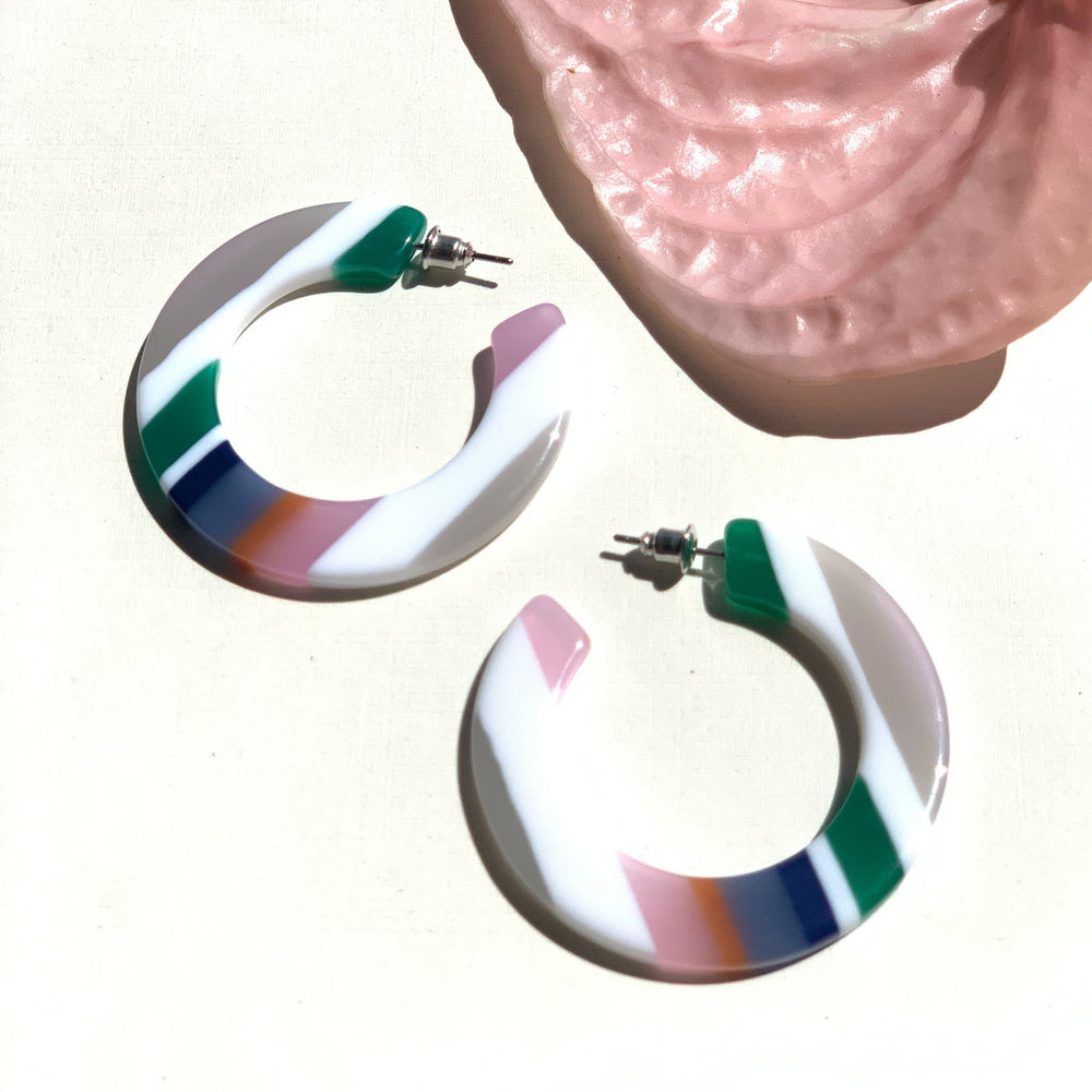 Rhea Hoops - Candy Stripes