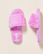 Sage Faux Fur Slippers - Lilac